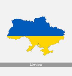 Ukraine map flag vector