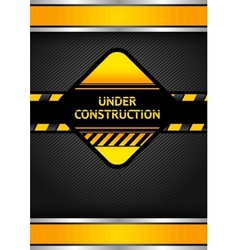 under construction black corduroy background vector image