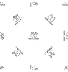 wedding rings jewelry pattern seamless vector image