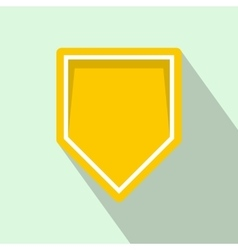 Yellow pennant icon flat style vector