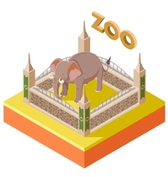 Zoo Elephant isometric icon2 vector image