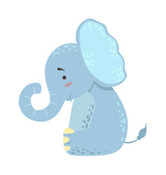 elephant cute toy animal with detailed elements vector image vector image