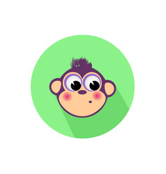 icon monkey on the isolated white background vector image vector image