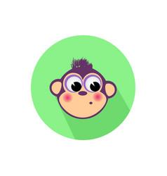 icon monkey on the isolated white background vector image