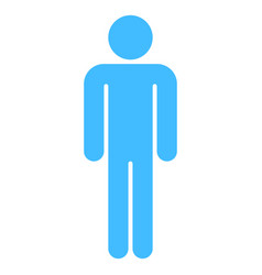 man sign human icon men symbol vector image