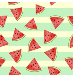Pieces of watermelon pattern vector image vector image