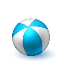 realistic beach inflatable striped ball vector image
