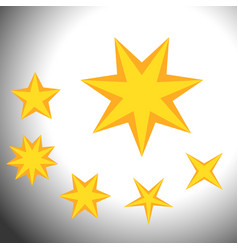 star symbols set set of simple bridge symbols vector image vector image