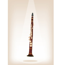 A Musical Clarinet on Brown Stage Background vector image vector image