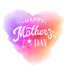 mother day greeting card with flower and lettering vector image