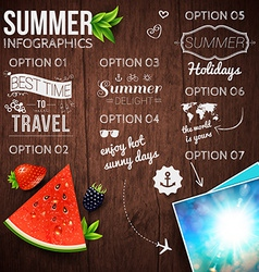 Abstract summer infographics poster with vector image