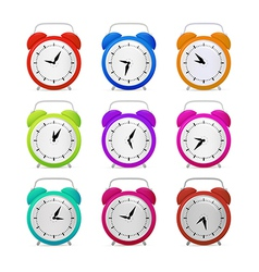 Colorful Alarm Clock Set vector image