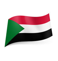national flag of sudan red white and black vector image