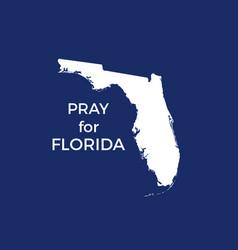 Pray for florida hurricane irma natural vector