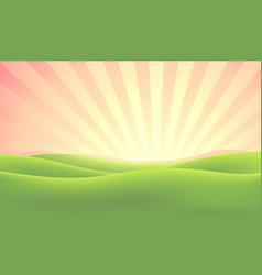 summer nature sunrise background vector image vector image