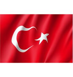 Waving flag of turkey vector
