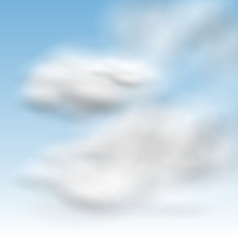 Background Blue Sky Fluffy Clouds vector image vector image
