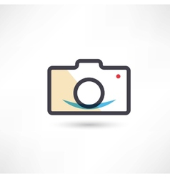 Black digital cam icon vector image vector image