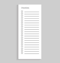 checklist empty sheet of paper vector image