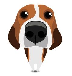 Funny sad beagle vector image vector image