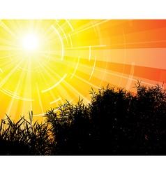 landscape modern vector image vector image