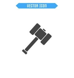 sledgehammer icon flat hammer icon vector image