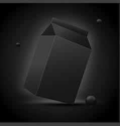 3d realistic luxury black milk pack vector image