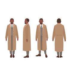 african american man dressed in elegant suit vector image