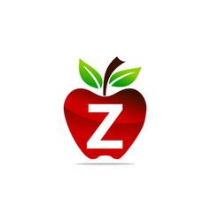 Apple letter z logo design template vector