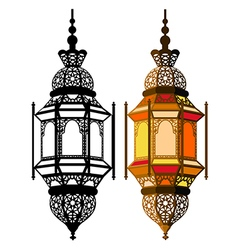 Arabic lantern vector