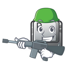 army p button installed on cartoon computer vector image