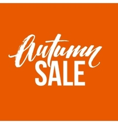 Autumn sale lettering Fall calligraphy design vector image