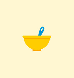 baby meal icon flat element vector image