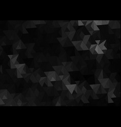 black abstract background with triangles vector image