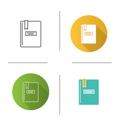Book with bookmark icon vector