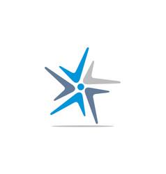 boomerang logo vector image