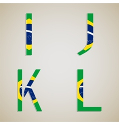 Brazil Style Font Set vector image