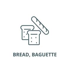 bread baguette line icon bread baguette vector image