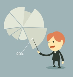 businessman points to chart of profit vector image