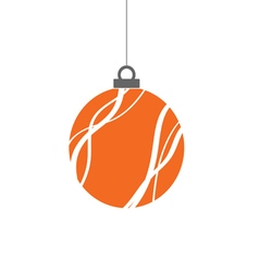 christmas ball color vector image
