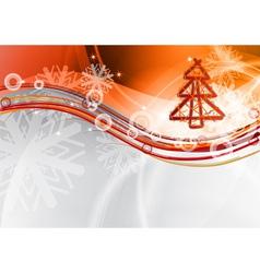 christmas wave vector image