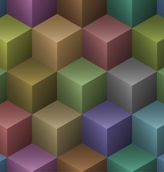 Color cubes seamless pattern vector