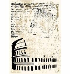 Colosseum background vector