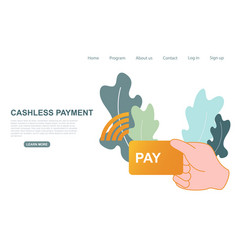Contactless cashless payment buying digital vector
