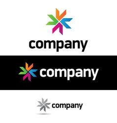 corporate logo design template vector image