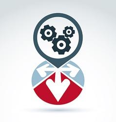 Enterprise system idea vector