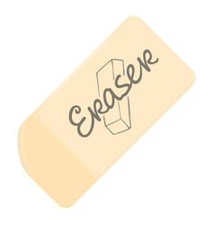 Eraser icon cartoon style vector