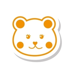 Face cat cute icon vector