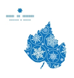 falling snowflakes leaf silhouette pattern frame vector image