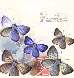 Fashion butterfly backgroud vector